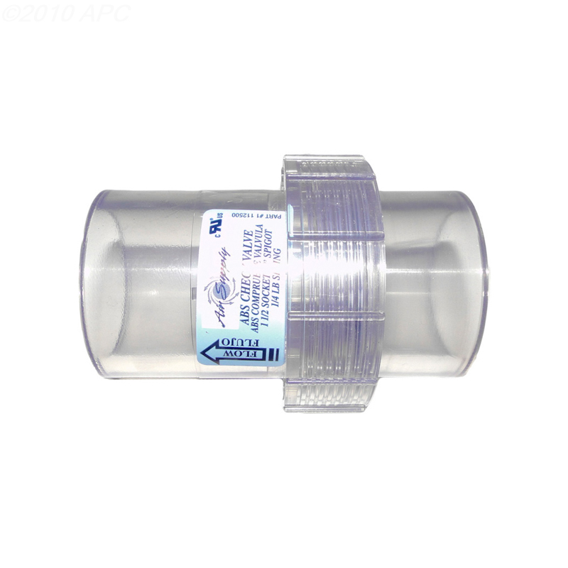 AIR SUPPLY CHECK VALVE 1/4# SPRING STYLE 112500